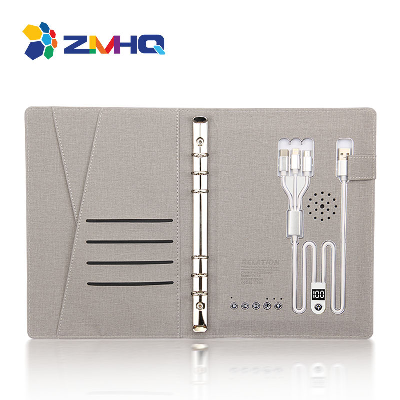 Charging notebook with 12000 mAh power bank and recording bluetooth function