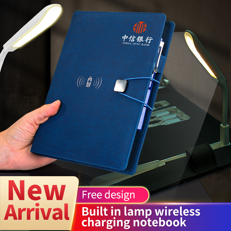 Wireless notebook with powerbank and bulit in LAMP