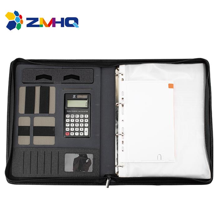 Hand carry portfolio with organizer power bank