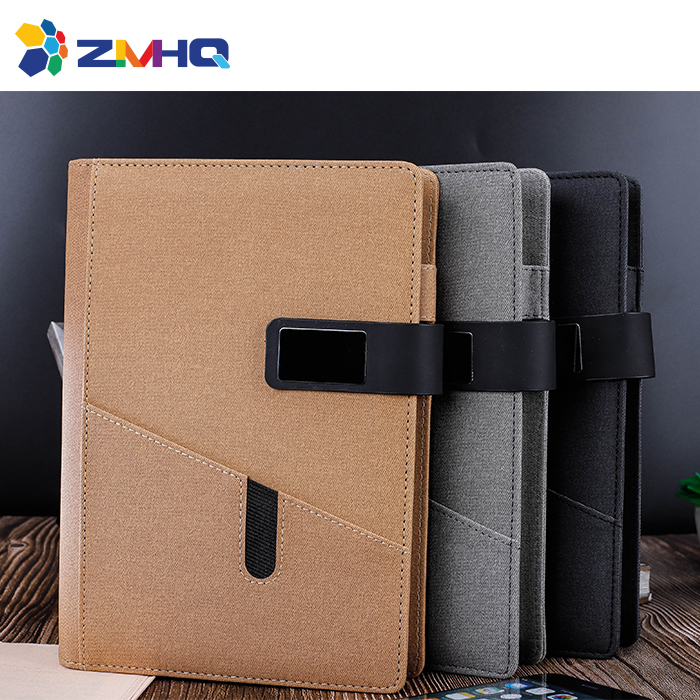Front pocket power bank notebook without USB flash