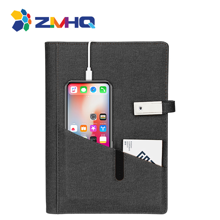 Best selling 2019 power bank notebook with usb flash drive