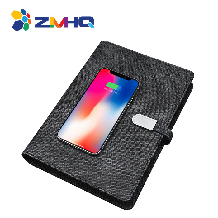 Wireless charging power bank notebook with 16G USB flash drive